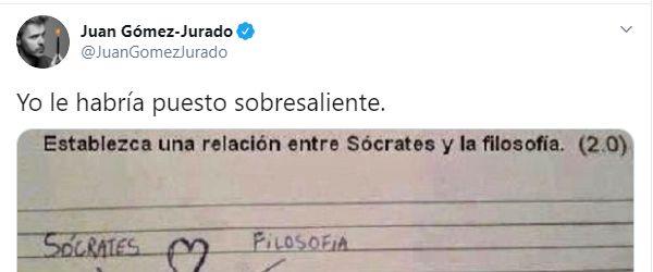 Captura de pantalla del tuit de Juan