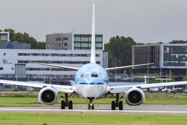 A KLM Boeing 737-700 aircraft is seen during takeoff at Amsterdam Schiphol AMS EHAM International Airport...