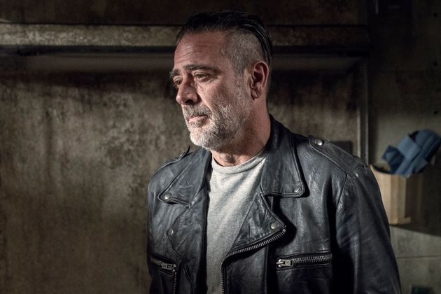 Negan probably thinking about how awkward it's going to be seeing