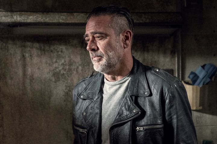Negan probably thinking about how awkward it's going to be seeing Maggie.
