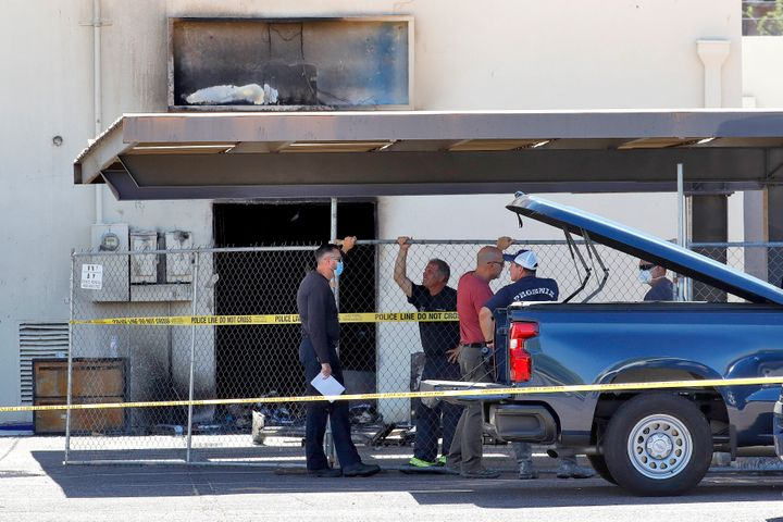 A fire destroyed part of the Arizona and Maricopa County Democratic Party headquarters on Friday.