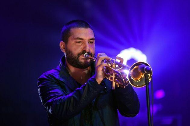 Le trompettiste Ibrahim Maalouf aux Francofolies de La Rochelle le 15 juillet