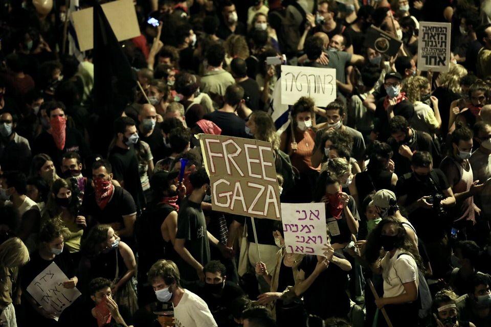 25일 예루살렘 반 정부 집회에