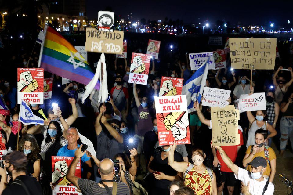 25일 텔아비브 반 정부