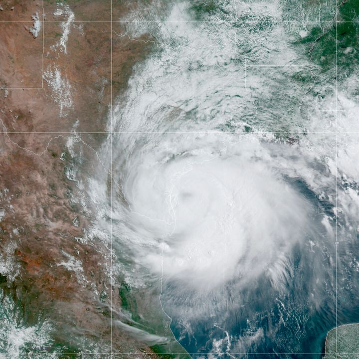 This Saturday, July 25, 2020 satellite image made available by the National Oceanic and Atmospheric Administration shows Hurr