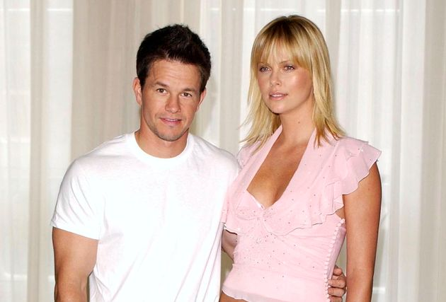 Mark Wahlberg and Charlize Theron promoting