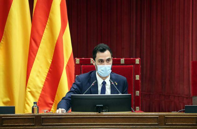 Roger Torrent, presidente del Parlament, el 22 de julio de 2020 en Barcelona (Joan Valls/Urbanandsport/NurPhoto...