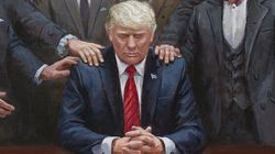 Right-Wing MAGA Artist's Weird New Trump Portrait Gets Hilarious
