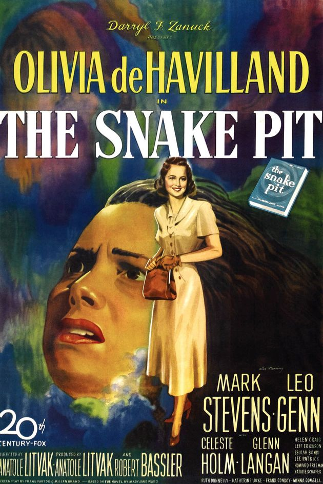 The Snake Pit, poster, Olivia DeHavilland, 1948. (Photo by LMPC via Getty