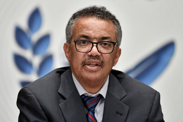 Tedros Adhanom Ghebreyesus, the WHO's director-general, is seen here in Geneva during a news conference...