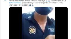 La paciencia de un policía de Castellón con una mujer sin mascarilla: