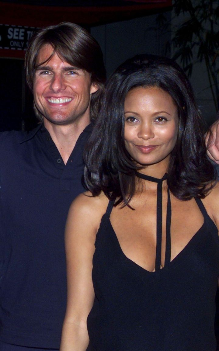 "Tom Cruise and Thandie Newton were all smiles at the ""Mission: Impossible 2"" premiere in 2000, but this month Newton describe"