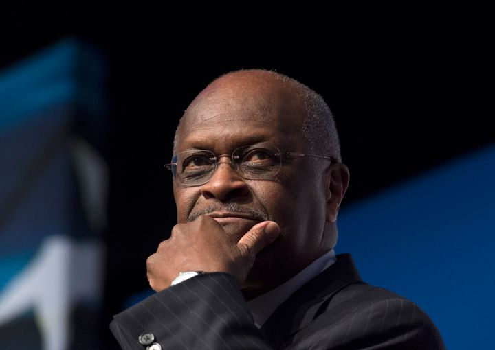 Herman Cain, pictured in 2014, rose to political prominence as a member of the Tea Party movement and ran for the Republican