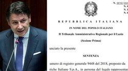 Il primo atto di Conte da premier (in conflitto di interessi) è stato annullato dal Tar del Lazio (di C.