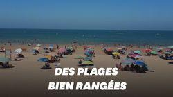 Sur ces plages espagnoles, le respect des distances physiques est