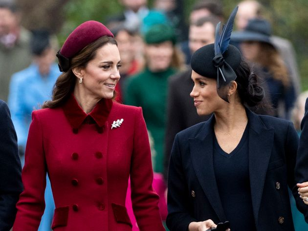 Kate and Meghan attend church on Christmas Day in