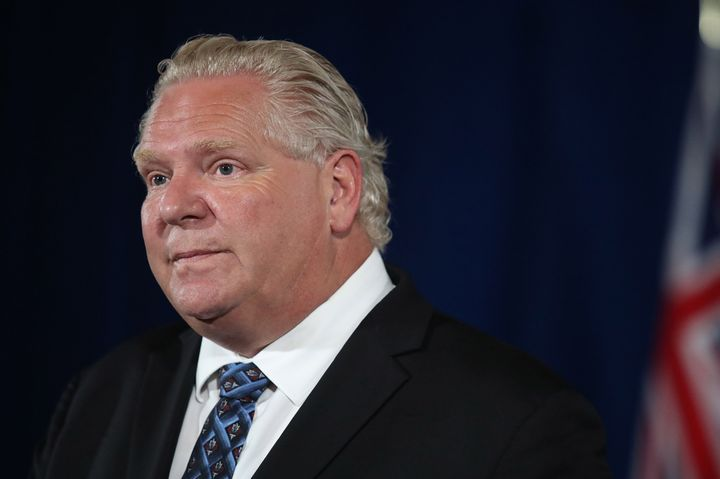 Premier Doug Ford speaks at Queen's Park in Toronto, Ont., on Tuesday, June 23, 2020.