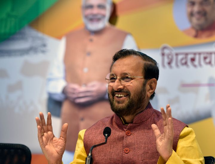 Minister of Information and Broadcasting and Minister of Environment, Forest and Climate Change Prakash Javadekar in a file photo.