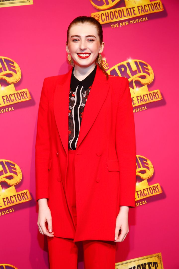 Neighbours actor Georgie Stone pictured in Melbourne in October 2019