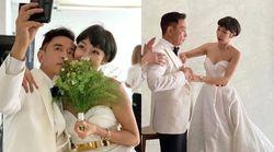 변정수가 결혼 25주년 맞아 리마인드 웨딩 화보를 찍었다
