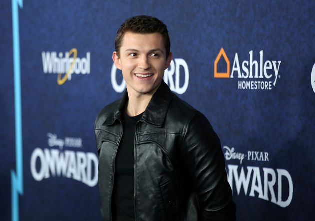 Tom Holland arrives at the World Premiere of