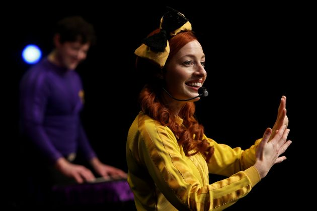 Emma Watkins of The Wiggles perform on stage during a live-streaming event at the Sydney Opera House...