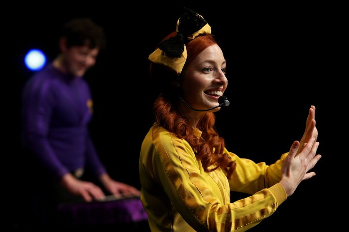 Emma Watkins of The Wiggles perform on stage during a live-streaming event at the Sydney Opera House on June 13, 2020 in Sydney, Australia.