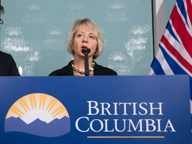 Dr. Bonnie Henry, Provincial Health Officer of British Columbia, during a news conference regarding the...