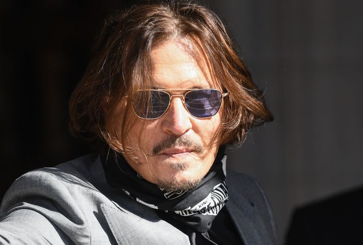 Johnny Depp pictured outside the High Court earlier this year