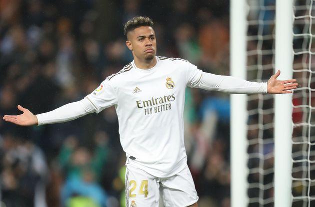 Mariano, en un partido contra el Barça el 1 de marzo de