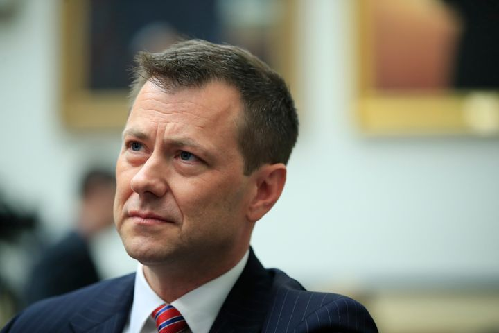 "Then-FBI Deputy Assistant Director Peter Strzok waits for the start of a House Judiciary Committee joint hearing on ""oversigh"