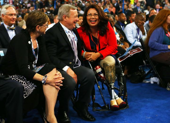 Illinois Sens. Dick Durbin and Tammy Duckworth, both Democrats, are usually strong advocates for women's reproductive rights.