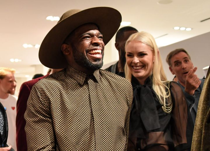 P.K. Subban and Lindsey Vonn in Montreal in August 2019.
