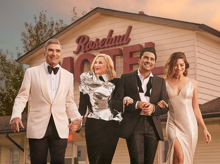 "Eugene Levy, Catherine O'Hara, Dan Levy and Annie Murphy of ""Schitt's Creek."""