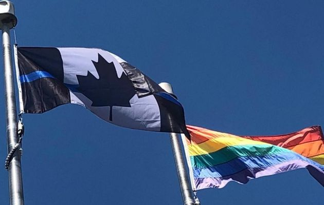 The Ontario Provincial Police Association replaced its red and white Canadian flag with a