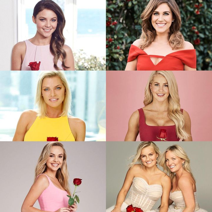 All of 'The Bachelorette Australia' stars to date: Sam Frost, Georgia Love, Sophie Monk, Ali Oetjen, Angie Kent, and Elly and Becky Miles.