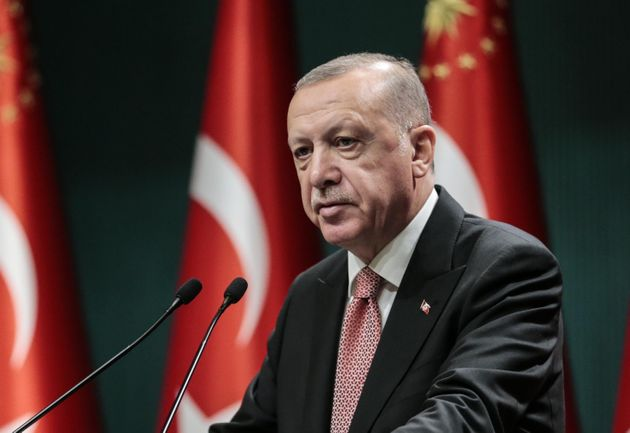 ANKARA, TURKEY - JULY 27: President of Turkey Recep Tayyip Erdogan makes statements after chairing the...