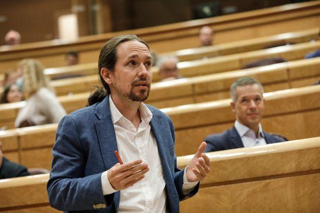 Pablo Iglesias, en el Senado el 14 de julio de 2020 (EUROPA PRESS/Jesús Hellín. POOL/Europa...