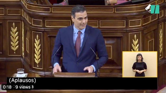 Pedro Sánchez, este miércoles en el