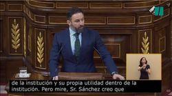 Abascal describe a Fernando Simón con una palabra despectiva desde la tribuna del