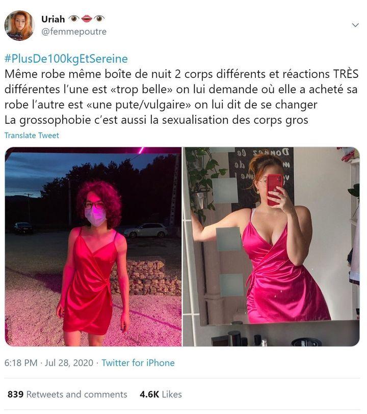 Le hashtag #PlusDe100kgEtSereine, créé en 2019, connaît un succès fort depuis le 27 juillet. Il divise pourtant les internautes, entre ceux qui assument leurs formes et ceux qui y voient une promotion de l'obésité.