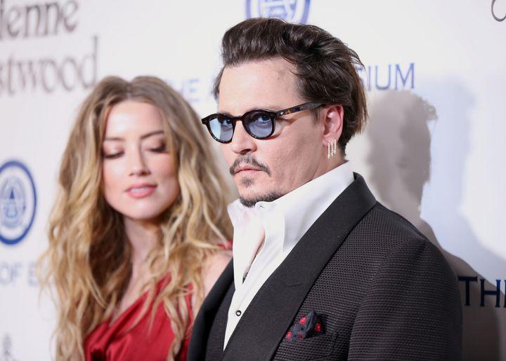 Los actores Amber Heard y Johnny Depp.