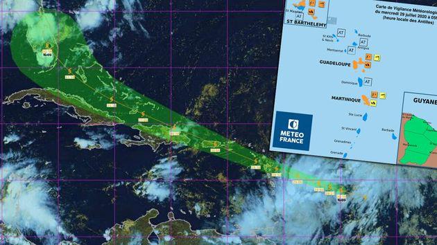 Les Antilles françaises se trouvent sur le chemin d'une onde tropicale qui a évolué...