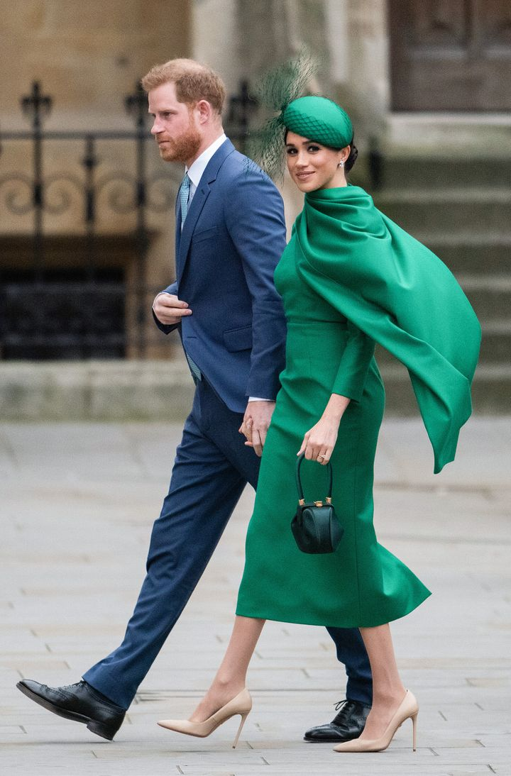 The Duke and Duchess of Sussex attend the Commonwealth Day Service 2020 on March 9 in London.
