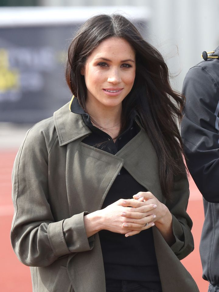 Meghan Markle attends the U.K. team trials for the Invictus Games Sydney at the University of Bath Sports Training Village on April 6, 2018, in Bath, England.