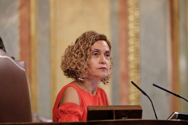 La presidenta del Congreso, Meritxell