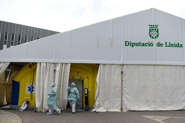 Hospital de campaña en Lleida por el
