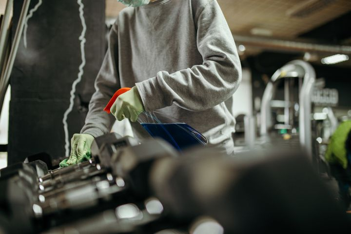 Gyms that re-open will likely be cleaned and disinfected regularly, and should have other procedures in place.