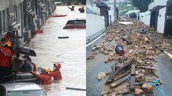 대전 물폭탄에 아수라장된 현장 사진