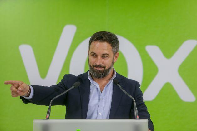 Santiago Abascal, líder de Vox, el 12 de julio en Madrid (Ricardo Rubio/Europa Press via Getty